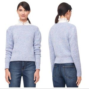 La Vie Rebecca Taylor Blue Donegal Tweed Sweater